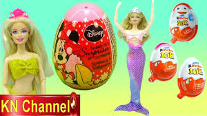 Đồ chơi trẻ em BÚP BÊ BARBIE TIÊN CÁ SĂN VÀ BÓC TRỨNG BẤT NGỜ Disney  surprise egg BARBIE MERMAID - YouTube