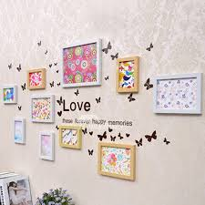 Butterfly Wall Decals Bird Photo Frame Living Room 3d Pvc Acrylic