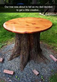 tree trunk table ideas furniture