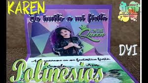 Invitacion Karen Polinesia Diy Facil Youtube