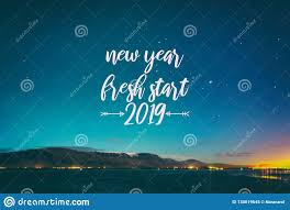 new year fresh start stock image image of greeting