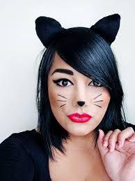 picture of diy black cat makeup