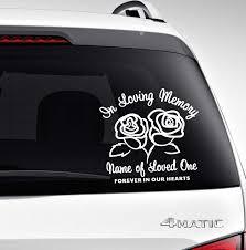 Roses In Memory Car Decals Funeral Program Site