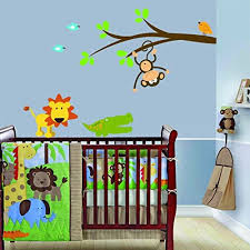 Amazon Com Kid O Jungle Wall Decals Nursery Jungle Wall Decor Stickers Jungle Animal Decals For Children Wall Sticker With Alligator Lion Monkey And Birds Home Kitchen