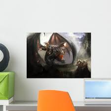 Dragon With Snakes His Wall Decal Wallmonkeys Com