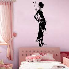Afro Style Tribe Pretty Women Wall Decal Sticker Vinyl Woman Africa African Wall Stickers For Living Room Home Decor Mural Lc961 Wall Stickers Aliexpress
