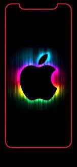 wallpaper iphone x apple logo rainbow
