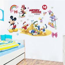 Cartoon Mickey Minnie Duck Wall Decals Bedroom Kids Rooms Nursery Home Decor Disney Wall Stickers Diy Posters Pvc Mural Art Wall Stickers Aliexpress