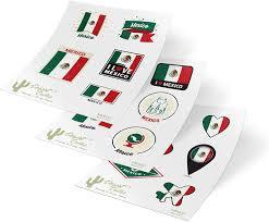 Mexico Country Flag Car Bumper Decal Sticker