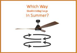 direction should a ceiling fan go in summer