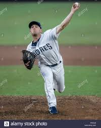 Robbie Erlin. Baseball action during the Los Angeles Dodgers game against  San Diego Padres, the second game of the Major League Baseball Series in Me  Stock Photo - Alamy
