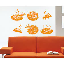 Shop Pizzeria Pizza Cafe Food Wall Art Sticker Decal Orange Overstock 11683944