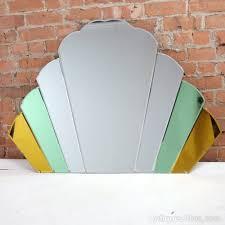 art deco large fan cloud over mantle mirror