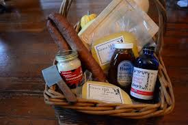 d i y holiday gift baskets with local