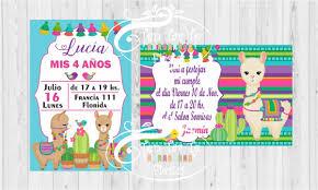 Invitaciones Tarjetas Infantiles Llama 180 00 En Mercado Libre