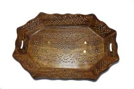 lunatic hand carved wooden serving tray