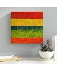 New Savings On Latitude Run Fence Painting Print On Wrapped Canvas Muso8904 Size 18 H X 18 W X 2 D