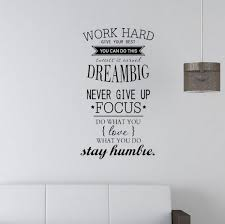 Wall Quotes Decals Removable Stickers Decors Vinyl Work Hard Dream Big Diy Buy At A Low Prices On Joom E Commerce Platform