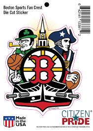 New Boston Sports Fan Crest Sticker Decal Die Cut Vinyl 4 2x5 5