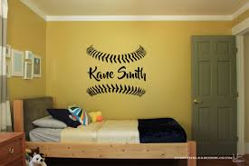 Custom Name Baseball Vinyl Wall Sticker Wall Art Sticker Etsy