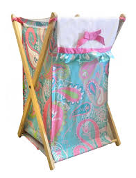 nursery laundry baby hamper pink and