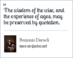 benjamin d i the wisdom of the wise and the experience of