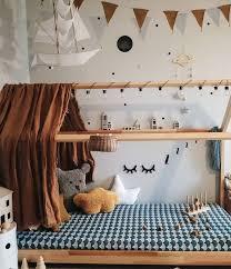 Kids Vintage Bedroom Earthy Tones Olli Ella Minichari Rattan Basket Bag Vintage Kids Room Kid Room Decor Creative Kids Rooms