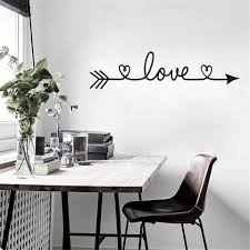 Love Heart Arrow Wall Stickers Art Design Stickers For Living Room Bedroom Home Decoration Wall Decals Glass Stickers Decor Pv Wall Stickers Aliexpress