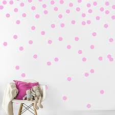 Amazon Com Pink Wall Decal Dots 200 Decals Easy Peel Stick Safe On Walls Paint Removable Matte Vinyl Polka Dot Decor Round Circle Art Glitter Sayings Sticker Large