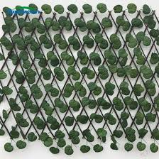 China 1 2 M Lasting Artificial Greenery Leaves Dense Privacy Fence Screen China Garden Leaf Fence Artificial Ivy Fence