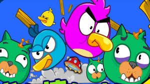 Angry Birds Cannon 2 - BIRDS COLLECTIONS HACKED VS BAD PIGS! - YouTube