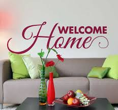 Welcome Home Wall Sticker Tenstickers