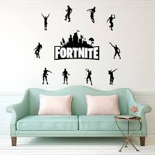Fortnite Wall Art Stickers Removable Wall Stickers For Living Room Vinyl Wallpaper Decals Bedroom Shopee Malaysia