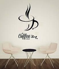Vinyl Decal Coffee Cup Coffee Beans Cafe Bar Kitchen Wall Sticker Decor N1020 Ebay