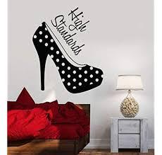 Amazon Com V Studios Vinyl Wall Decal Women S High Heel Shoes Girl Room Fashion Stickers Vs646 Home Kitchen