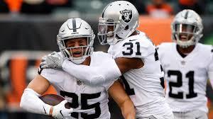 Watch Raiders safety Erik Harris pick off Jeff Driskel for first ...