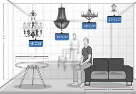 chandelier height guide bellacor
