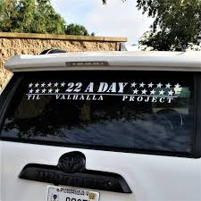 22 A Day Decal 36 Inch Til Valhalla Project