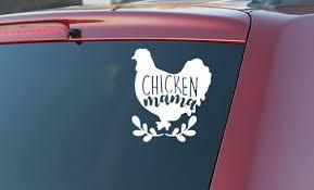 Chicken Mama Car Decal Etsy