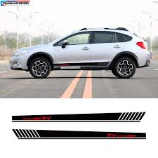 For Subaru Xv Awd Sport Side Skirt Stripes Car Styling Door Decor Stickers Auto Body Customized Vinyl Decal Exterior Accessories Car Stickers Aliexpress