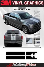 Ford F 150 Stripes F Rally Split Center Racing Stripes 3m Vinyl Graphics Decals Ebay