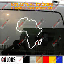 Africa Outline Map Pan African Decal Sticker Car Vinyl Pick Size Color Ebay