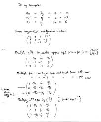 simultaneous linear equations