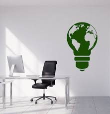 Vinyl Wall Decal Planet Earth Protection Of Nature Creative Idea Light Wallstickers4you