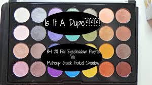 bh cosmetics 28 foil eyeshadow palette