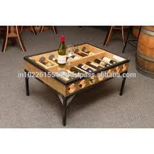 wine storage coffee table vintage metal