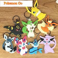 Pokemon Go PVC Key Chain Pikachu Eevee Vaporeon Jolteon Flareon ...
