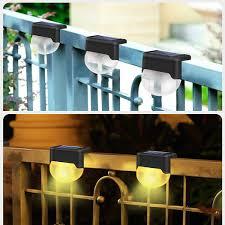 Javiem Solar Fence Light Outdoor Waterproof Garden Led Decorative Light Step Lights Outdoor Lighting Landscape Lighting