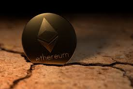 Ethereum coin stuck in cracked earth free image download
