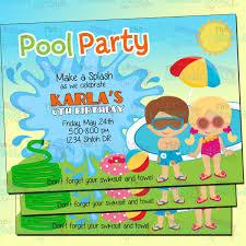Invitacion Fiesta De Alberca Invitacion Pool Party Alberca